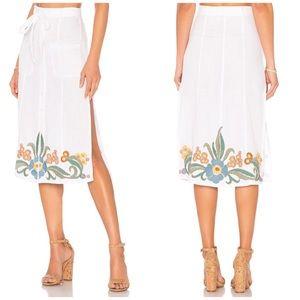 NWT Tularosa Dell Embroidered Midi Skirt